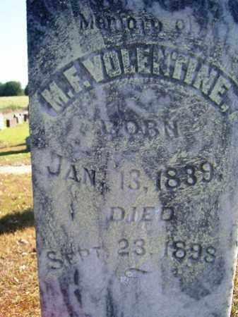 VOLENTINE, M  F - Franklin County, Arkansas | M  F VOLENTINE - Arkansas Gravestone Photos