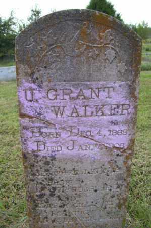WALKER, U GRANT - Franklin County, Arkansas   U GRANT WALKER - Arkansas Gravestone Photos