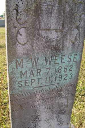 WEESE, M  W - Franklin County, Arkansas | M  W WEESE - Arkansas Gravestone Photos