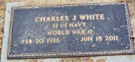 WHITE, JR (VETERAN WWII), CHARLES J - Franklin County, Arkansas | CHARLES J WHITE, JR (VETERAN WWII) - Arkansas Gravestone Photos
