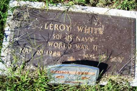 WHITE (VETERAN WWII), LEROY - Franklin County, Arkansas   LEROY WHITE (VETERAN WWII) - Arkansas Gravestone Photos