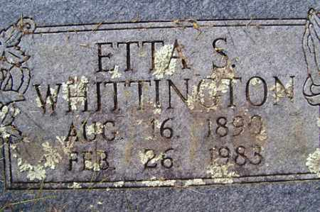 SHAW WHITTINGTON, ETTA SARAH - Franklin County, Arkansas | ETTA SARAH SHAW WHITTINGTON - Arkansas Gravestone Photos