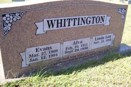 WHITTINGTON, ALVA - Franklin County, Arkansas | ALVA WHITTINGTON - Arkansas Gravestone Photos