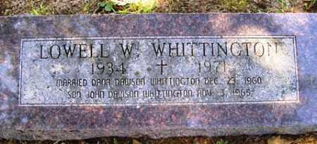 WHITTINGTON, LOWELL W. - Franklin County, Arkansas | LOWELL W. WHITTINGTON - Arkansas Gravestone Photos