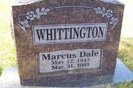 WHITTINGTON, MARCUS DALE - Franklin County, Arkansas | MARCUS DALE WHITTINGTON - Arkansas Gravestone Photos