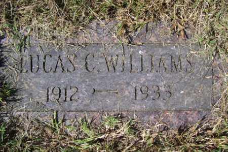WILLIAMS, LUCAS C. - Franklin County, Arkansas   LUCAS C. WILLIAMS - Arkansas Gravestone Photos