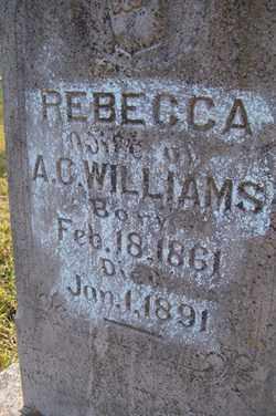 WILLIAMS, REBECCA - Franklin County, Arkansas | REBECCA WILLIAMS - Arkansas Gravestone Photos