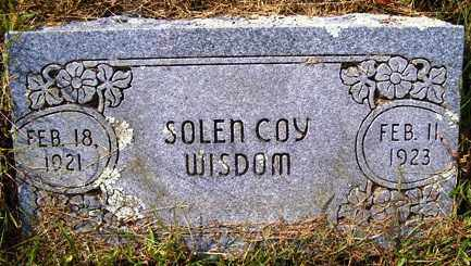 WISDOM, SOLEN COY - Franklin County, Arkansas | SOLEN COY WISDOM - Arkansas Gravestone Photos