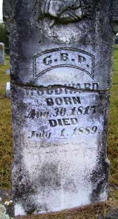 WOODWARD, G  B P - Franklin County, Arkansas   G  B P WOODWARD - Arkansas Gravestone Photos
