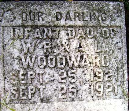 WOODWARD, INFANT DAUGHTER - Franklin County, Arkansas   INFANT DAUGHTER WOODWARD - Arkansas Gravestone Photos