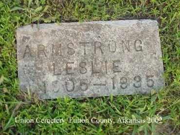 ARMSTRONG, LESLIE - Fulton County, Arkansas   LESLIE ARMSTRONG - Arkansas Gravestone Photos