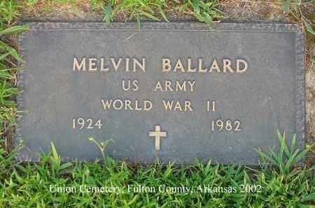 BALLARD  (VETERAN WWII), MELVIN - Fulton County, Arkansas | MELVIN BALLARD  (VETERAN WWII) - Arkansas Gravestone Photos