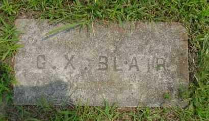 BLAIR, G. X. - Fulton County, Arkansas   G. X. BLAIR - Arkansas Gravestone Photos