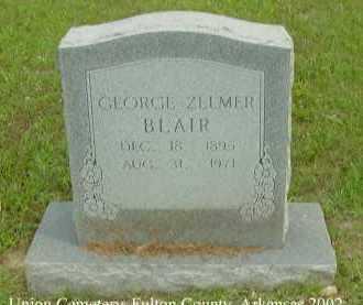 BLAIR, GEORGE ZELMER - Fulton County, Arkansas   GEORGE ZELMER BLAIR - Arkansas Gravestone Photos