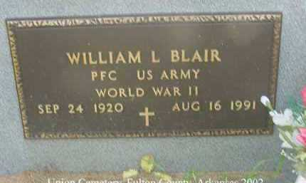 BLAIR  (VETERAN  WWII), WILLIAM LESLIE - Fulton County, Arkansas | WILLIAM LESLIE BLAIR  (VETERAN  WWII) - Arkansas Gravestone Photos