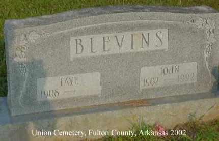 BLEVINS, JOHN - Fulton County, Arkansas | JOHN BLEVINS - Arkansas Gravestone Photos