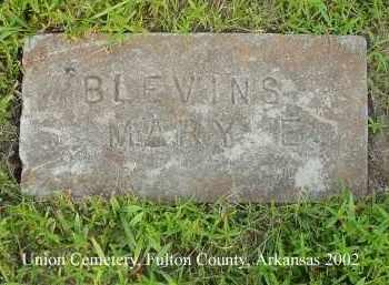 BLEVINS, MARY E. - Fulton County, Arkansas | MARY E. BLEVINS - Arkansas Gravestone Photos