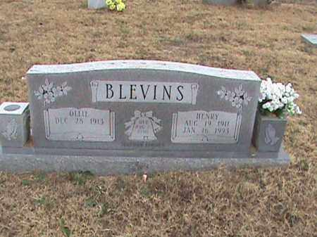 BLEVINS, HENRY - Fulton County, Arkansas | HENRY BLEVINS - Arkansas Gravestone Photos