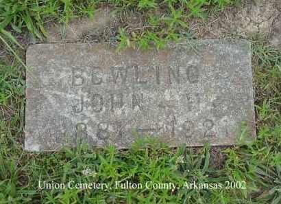 BOWLING, JOHN H - Fulton County, Arkansas | JOHN H BOWLING - Arkansas Gravestone Photos