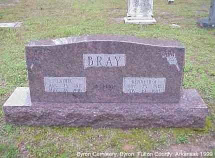 BRAY, KENNETH ALEXANDER - Fulton County, Arkansas | KENNETH ALEXANDER BRAY - Arkansas Gravestone Photos