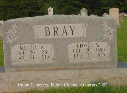 BRAY, MARTHA ANN - Fulton County, Arkansas | MARTHA ANN BRAY - Arkansas Gravestone Photos