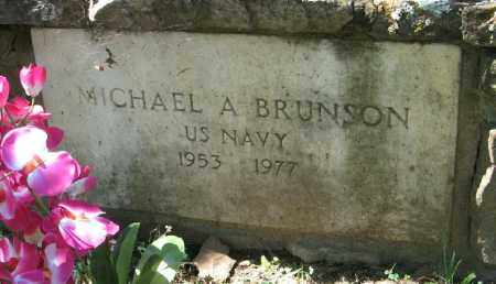 BRUNSON  (VETERAN), MICHAEL A - Fulton County, Arkansas | MICHAEL A BRUNSON  (VETERAN) - Arkansas Gravestone Photos