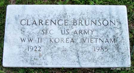 BRUNSON (VETERAN 3 WARS), CLARENCE - Fulton County, Arkansas | CLARENCE BRUNSON (VETERAN 3 WARS) - Arkansas Gravestone Photos