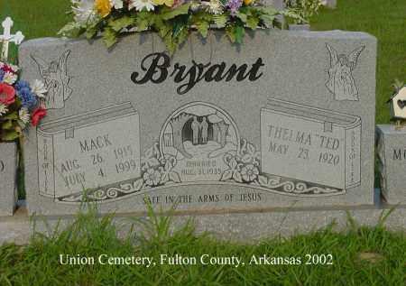 BRYANT, MACK - Fulton County, Arkansas   MACK BRYANT - Arkansas Gravestone Photos