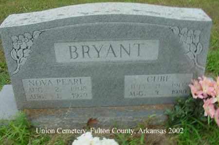 BRYANT, NOVA PEARL - Fulton County, Arkansas | NOVA PEARL BRYANT - Arkansas Gravestone Photos