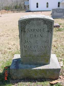 CAIN, SARAH E. - Fulton County, Arkansas | SARAH E. CAIN - Arkansas Gravestone Photos
