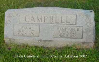 CAMPBELL, HAMPTON B. - Fulton County, Arkansas | HAMPTON B. CAMPBELL - Arkansas Gravestone Photos