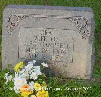 FERGUSON CAMPBELL, ORA ALMA - Fulton County, Arkansas | ORA ALMA FERGUSON CAMPBELL - Arkansas Gravestone Photos