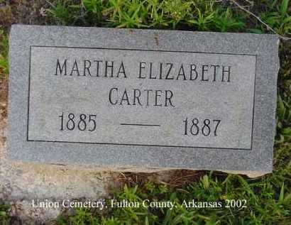 CARTER, MARTHA ELIZABETH - Fulton County, Arkansas   MARTHA ELIZABETH CARTER - Arkansas Gravestone Photos