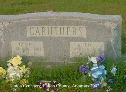CARUTHERS, GLADYS - Fulton County, Arkansas   GLADYS CARUTHERS - Arkansas Gravestone Photos