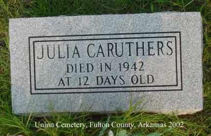 CARUTHERS, JULIA - Fulton County, Arkansas | JULIA CARUTHERS - Arkansas Gravestone Photos