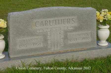 CARUTHERS, THOMAS S. - Fulton County, Arkansas | THOMAS S. CARUTHERS - Arkansas Gravestone Photos