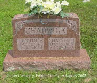 CHADWICK, CHARLES BRADLEY - Fulton County, Arkansas   CHARLES BRADLEY CHADWICK - Arkansas Gravestone Photos