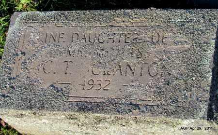 CLANTON, INFANT DAUGHTER - Fulton County, Arkansas | INFANT DAUGHTER CLANTON - Arkansas Gravestone Photos