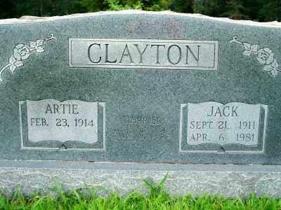 CLAYTON, JACK - Fulton County, Arkansas   JACK CLAYTON - Arkansas Gravestone Photos