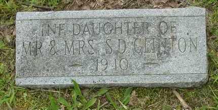 CLINTON, INFANT DAUGHTER - Fulton County, Arkansas | INFANT DAUGHTER CLINTON - Arkansas Gravestone Photos
