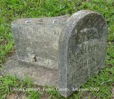 ESTES CLINTON, MARTHA FRANCES - Fulton County, Arkansas | MARTHA FRANCES ESTES CLINTON - Arkansas Gravestone Photos