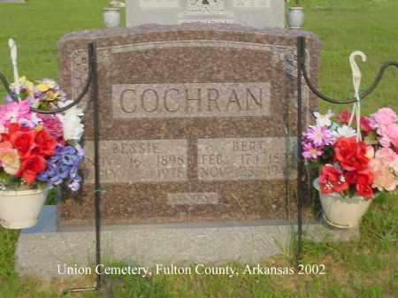 COCHRAN, BERT - Fulton County, Arkansas | BERT COCHRAN - Arkansas Gravestone Photos