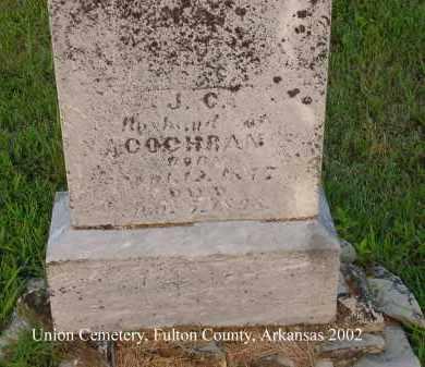 COCHRAN, JAMES CHILES - Fulton County, Arkansas | JAMES CHILES COCHRAN - Arkansas Gravestone Photos