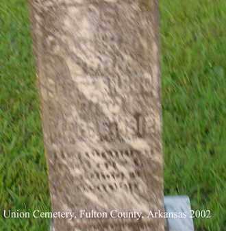 COCHRAN, J. S. - Fulton County, Arkansas   J. S. COCHRAN - Arkansas Gravestone Photos