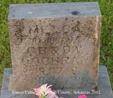 COCHRAN, MELBA - Fulton County, Arkansas | MELBA COCHRAN - Arkansas Gravestone Photos