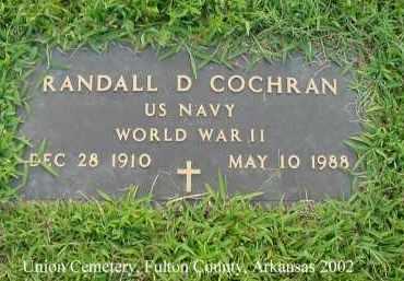 COCHRAN  (VETERAN WWII), RANDALL DAVIS - Fulton County, Arkansas   RANDALL DAVIS COCHRAN  (VETERAN WWII) - Arkansas Gravestone Photos