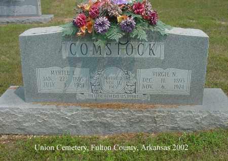 COMSTOCK, MYRTLE E. - Fulton County, Arkansas | MYRTLE E. COMSTOCK - Arkansas Gravestone Photos