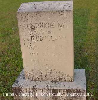 COPELAND, BERNICE M. - Fulton County, Arkansas   BERNICE M. COPELAND - Arkansas Gravestone Photos
