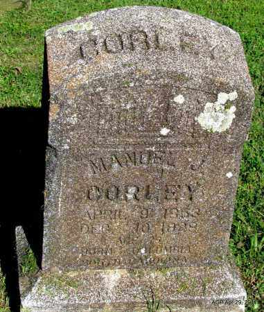 CORLEY, MANUEL J - Fulton County, Arkansas | MANUEL J CORLEY - Arkansas Gravestone Photos