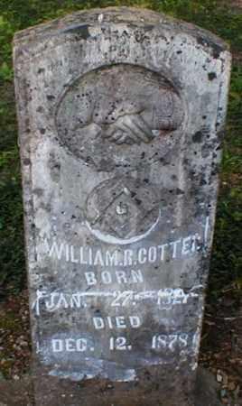 COTTER, WILLIAM RILEY - Fulton County, Arkansas   WILLIAM RILEY COTTER - Arkansas Gravestone Photos